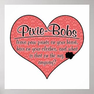 Pixie-Bob Paw Prints Cat Humor Posters
