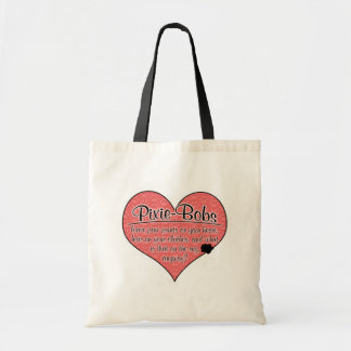 Pixie-Bob Paw Prints Cat Humor Tote Bag
