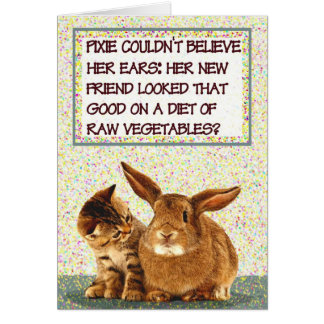 Pixie couldn't believe her ears greeting card
