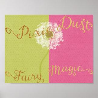Pixie Dust & Fairy Magic Poster