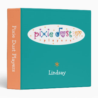 "Pixie Dust Players Personalized 1-1/5"" Binder"