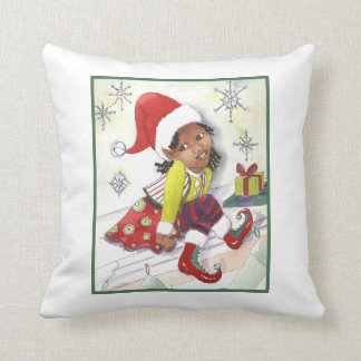 Pixie Elf Girl girls accent pillow