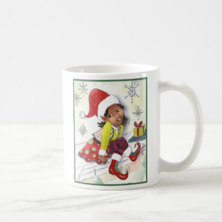 Pixie Elf Girl girls Christmas mug