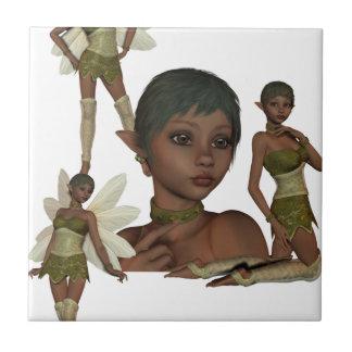Pixie Elves Ceramic Tile