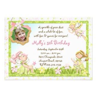 Pixie Fairy Birthday Party Invitation