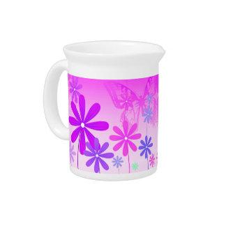 Pixie Flower Butterflies 2 Drink Pitcher