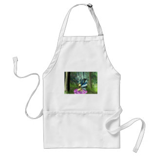 Pixie freeing a frog adult apron