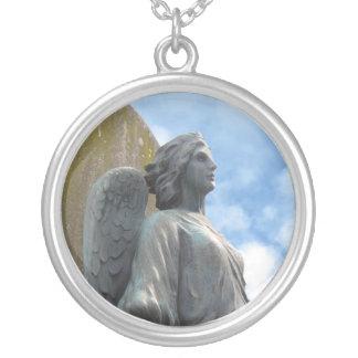 Pixie Globes - Angel Round Pendant Necklace
