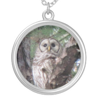 Pixie Globes - Owl Round Pendant Necklace