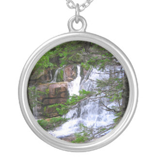 Pixie Globes - Rushing Water Round Pendant Necklace