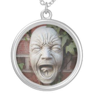 Pixie Globes - Screaming Simon Round Pendant Necklace