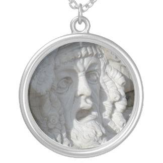 Pixie Globes - Shocked Statue Round Pendant Necklace