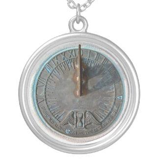 Pixie Globes - Sundial Round Pendant Necklace