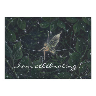 Pixie in Luminous Greens, Card