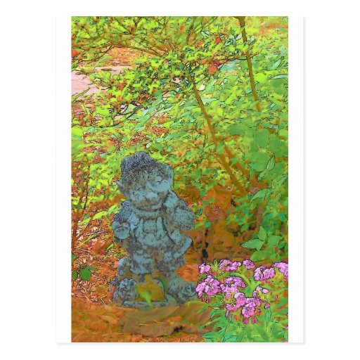 Pixie in the Garden Postcard