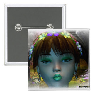 Pixie Model Pinback Buttons