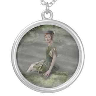 Pixie Round Pendant Necklace