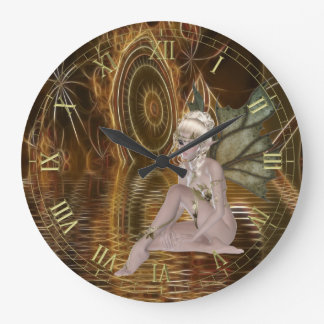 Pixie on Surreal Fractal Water Wall Clock