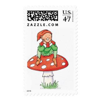 Pixie on Toadstool Postage