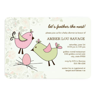 Pixie Pink, Green and Paisley Invitation