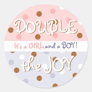 Pixie Polka Dot Twin Baby Sticker