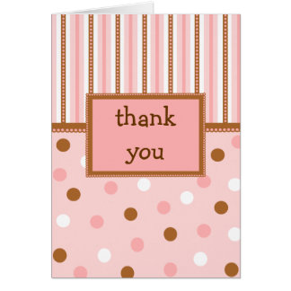 Pixie Polka Dots Thank You Notecard