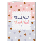 Pixie Polka Dots Twin Thank You Notecard Greeting Card
