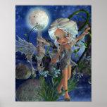 Pixie Power Silver Moon Print
