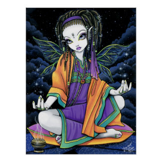 Pixie Stardust Celestial Hippie Fairy Poster