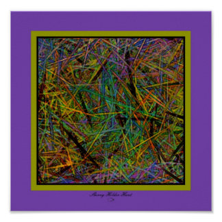 Pixie Stick Abstract 3 Poster