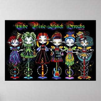 Pixie Stick Freaks Rainbow Sideshow Circus Fairies Poster