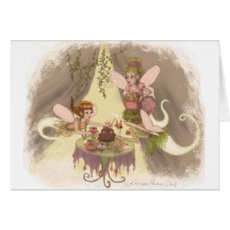 Pixie Tea Party Greeting Cards