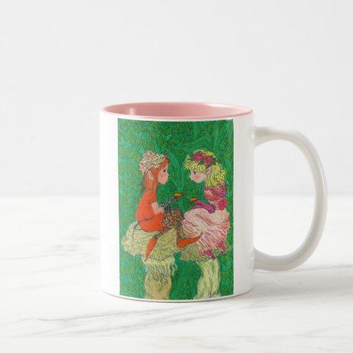 Pixie Tea Party Two-Tone Coffee Mug