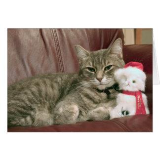 Pixie the Christmas Kitty Card