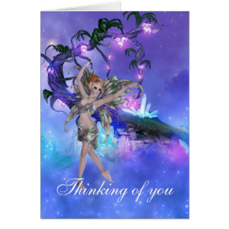 Pixie with Wishing Tree Greeting Card