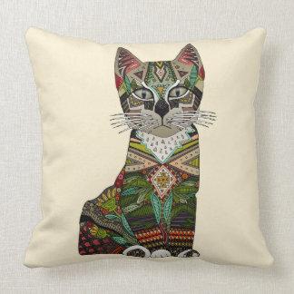 pixiebob kitten cream throw pillow