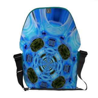 PiZap Blue Orchid Rickshaw Messenger Bag