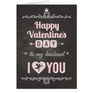 Pizarra - al marido, corazón de I usted tarjeta