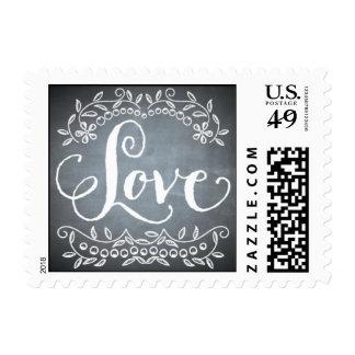 Pizarra - amor timbres postales