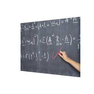 Pizarra con la aritmética en ella, primer impresión en lona estirada