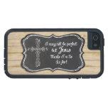 Pizarra cruzada inspirada cristiana de Jesús iPhone 5 Cárcasa