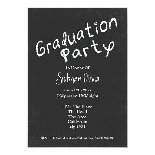Pizarra de la diversión de la fiesta de graduación invitacion personalizada