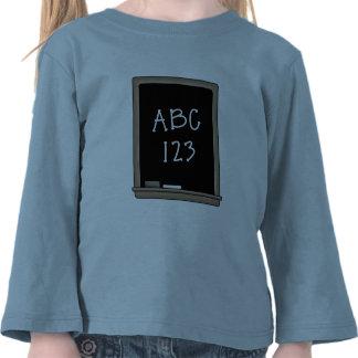 Pizarra de la escuela camisetas