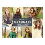 Pizarra de la invitación de la graduación del esca tarjeta postal