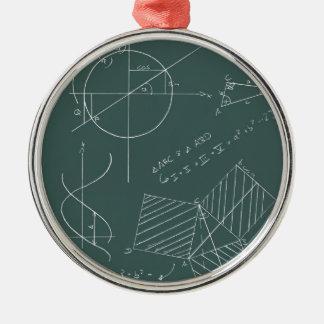 Pizarra de la matemáticas adorno para reyes
