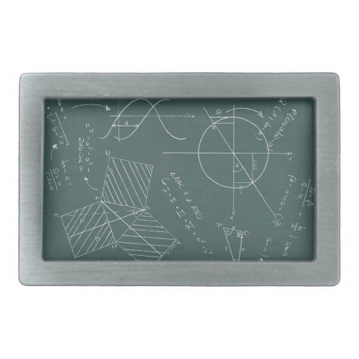 Pizarra de la matemáticas hebilla de cinturon rectangular