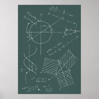 Pizarra de la matemáticas poster