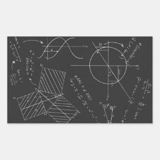 Pizarra de la matemáticas rectangular altavoz