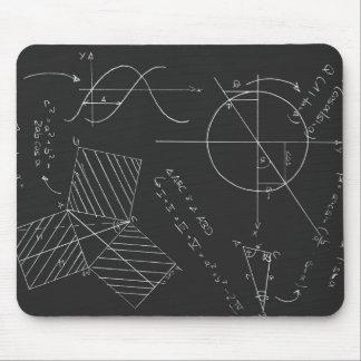 Pizarra de la matemáticas tapete de raton