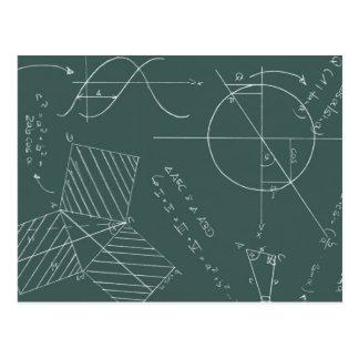 Pizarra de la matemáticas tarjeta postal